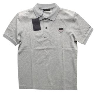 Prada Men's grey short sleeve t-shirt
