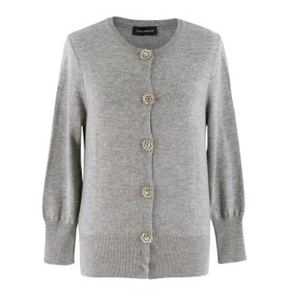 Flavio Castellani Grey Wool & Cashmere-blend Cardigan