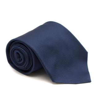 Eddy Monetti Navy Textured Silk Tie