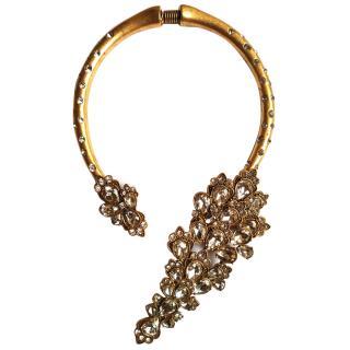 Oscar De La Renta Crystal Embellished Collar Necklace