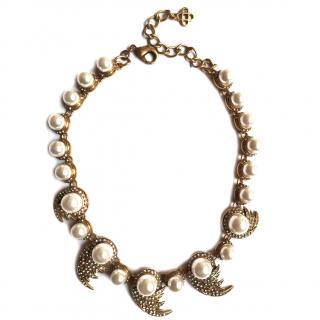 Oscar De La Renta Fanned Pearl Necklace
