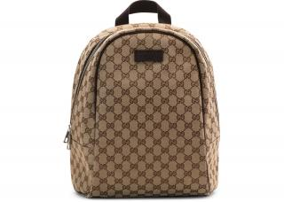 befb2e63187 Gucci Monogram Supreme Canvas Zipper Top Backpack