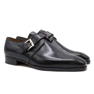 Aubercy Black Leather Monk Shoes