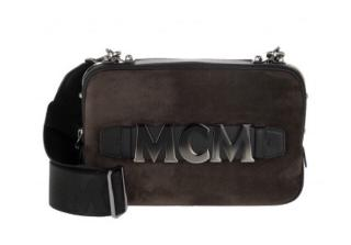 MCM Cubisim suede and leather cross body bag