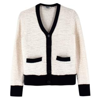 Sonia by Sonia Rykiel White Knitted Cardigan