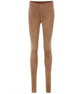 Joseph Suede Beige Straight trousers
