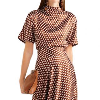 Diane Von Furstenberg Baker polka-dot silk top