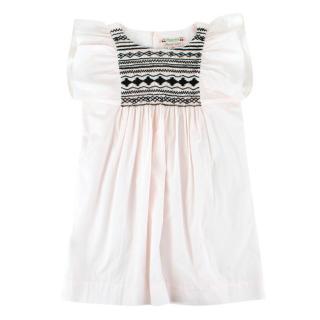 Bonpoint Girls Light Pink Cotton Dress