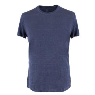 120% Lino Blue Basic T-shirt