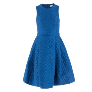 REDValentino Blue Heart-cloque A-line Dress