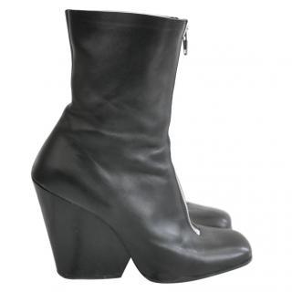 Celine by Phoebe Philo Zip Front Wedge Boots