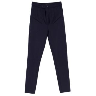 Isabel Marant Navy Slim-fit Wool-blend  Trousers