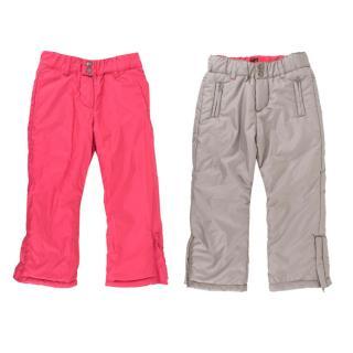 Tartine et Chocolat Girls Pink/Grey Reversible Ski Pants