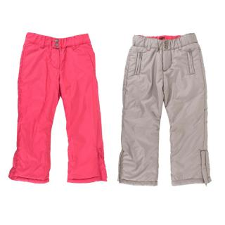 Tartine et Chocolat Girls Pink/Grey Reversible Ski Pants