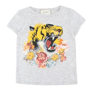 Gucci Girls Light Grey L'Aveugle Par Amour T-shirt