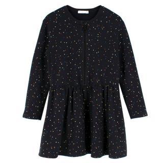 Stella McCartney Girls Black Dotted Cotton Dress
