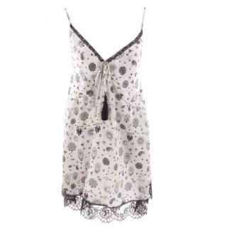 Ermanno Scervino Black & White Printed Summer Dress