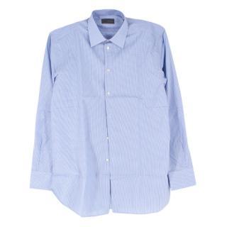 Kilgour Light Blue Houndstooth Check Shirt