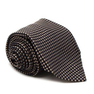 Ultrale Napoli Black Polka Dot Silk Tie
