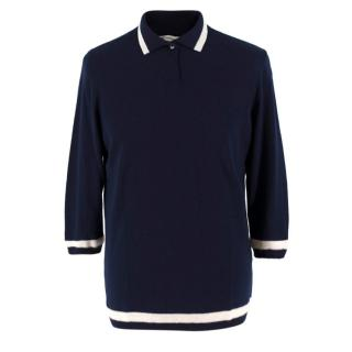 Connolly Mens Navy Wool Polo Top