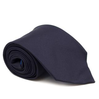 Eddy Monetti Navy Silk Tie
