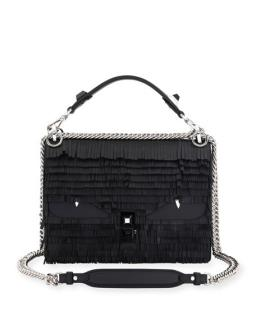 Fendi Kan I Fringe Monster Shoulder Bag