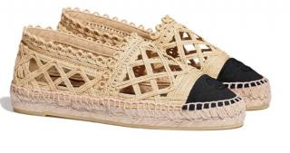 Chanel Cruise Collection Two-Tone Woven Espadrilles