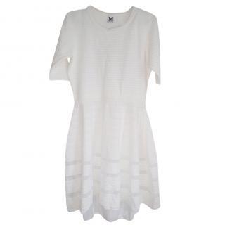 M Missoni white skater style dress