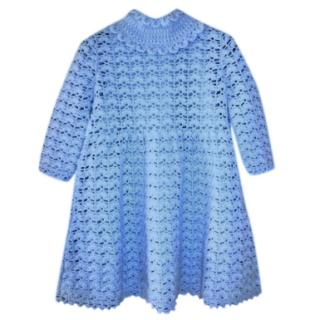 Dolce & Gabbana Girl's Blue Cashmere Dress