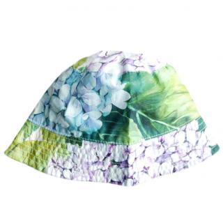 Dolce & Gabbana Ortensia Print Girl's sunhat