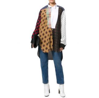 Loewe long multi print cotton shirt