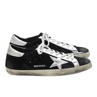 Golden Goose Deluxe Brand Black and Silver Trainers NEW