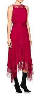 A.L.C. Pleated Lace Asymmetric Dress