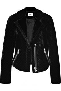 Alice By Temperley Lynnet velvet biker jacket