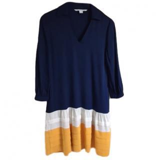 Diane Von Furstenberg Stretch Silk Shift Dress