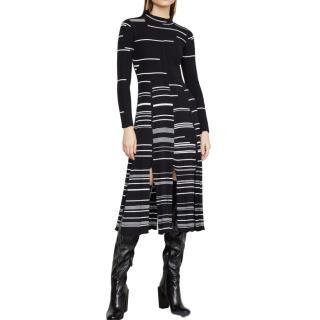 BCBG Max Azria  mixed stitch sweater dress