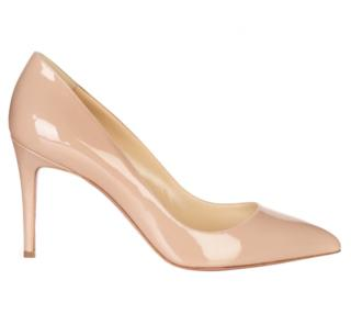 Christian Louboutin Patent Nude Pigalle Follies 85 Pumps