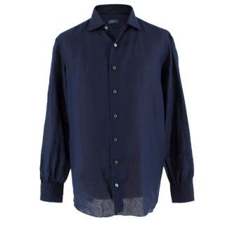 851e37c5 D'Avino Napoli Handmade Navy Shirt