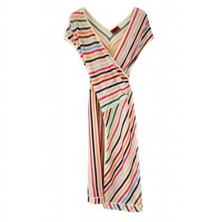 Missoni striped crossover dress
