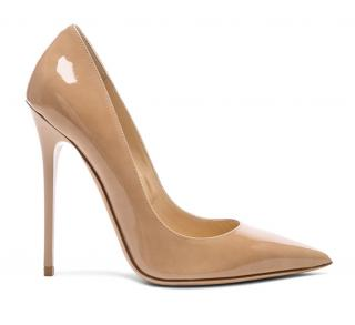 Jimmy Choo Nude Patent Anouk Pumps