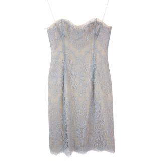 Catherine Walker light-blue corseted lace cocktail dress