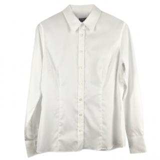 Mulberry white slim-fit cotton shirt