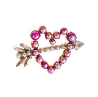 Bijoux de Famille Pearl Heart Pin