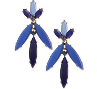 Oscar de la Renta Marquise Resin Drop Clip-on Earrings