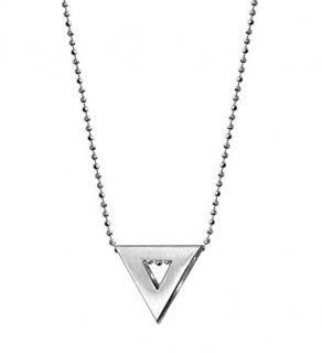 Alex Woo Triangle Pendant Necklace