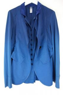 High by Claire Campbell blue ombre linen blend jacket