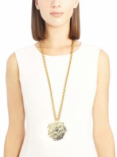 Oscar de la Renta enamel floral necklace