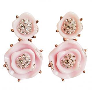 Oscar de la Renta floral-drop earrings