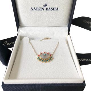 Aaron Basha Evil Eye gold necklace