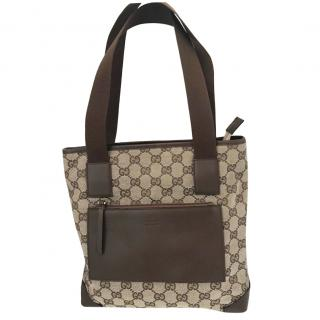Gucci canvas and leather bag